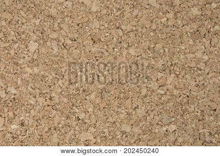 Background Pattern Horizontal Brown Cork Board Texture with Copy Space for Text Decorated.