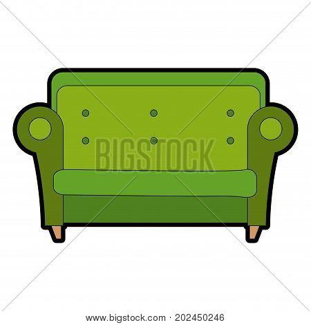 comfortable sofa isolated icon vector illustration design