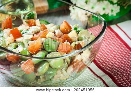 Broad Bean Salad With Tomatoes