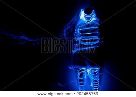 light effects and color lines with light painting technique