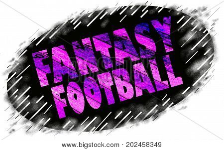 a grunge style fantasy football sign icon