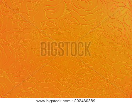 Abstract floral background in orange tones. Light pattern.