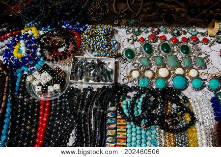 Jewelry and Accessories Flea market Vernissage Yerevan, Armenia