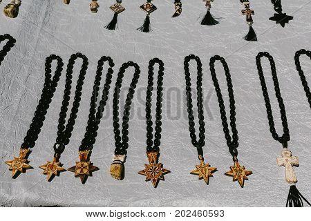 Adornments for neck Flea market Vernissage Yerevan, Armenia
