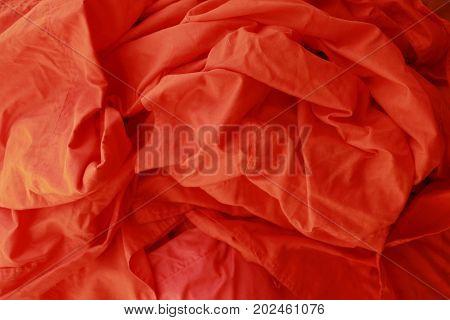 Orange Background, Monk robe fabric background, Asia
