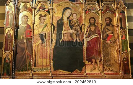 Siena Baptistery - Medieval Polyptich