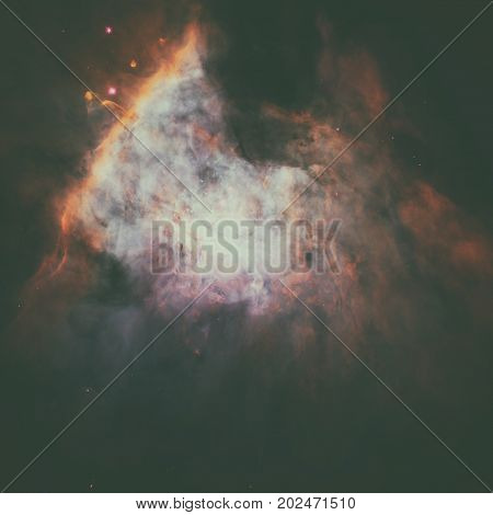 Panoramic Image Of Center Of The Orion Nebula.