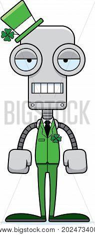 Cartoon Bored Irish Robot