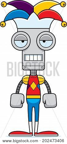 Cartoon Bored Jester Robot