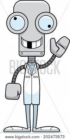 Cartoon Silly Doctor Robot