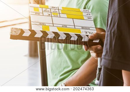 Film Slate,behind the scene, film crew production set