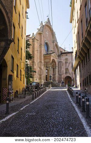 BOLOGNA, ITALY - JULY 23, 2017: Church of San Giovanni in Monte - Emilia Romagna