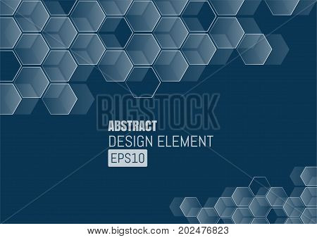 Abstract of futuristic surface with hexagons. Sci-fi background.