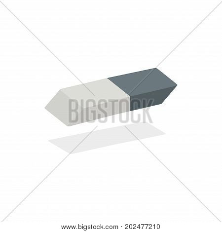 White eraser with blue wrapper vector on isolated white background