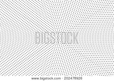 Halftone dotted background. Abstract monochrome backdrop. Pattern with small circles, dots, design element for web banners, posters, cards, wallpapers, sites. Black and white color Vector illustration