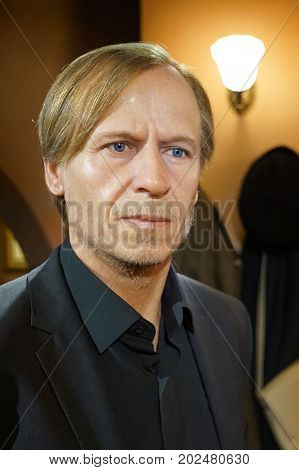 May 8. 2017 Museum of wax statues Grevin in the capital of the Czech Republic in Prague: Karel Roden - Actor