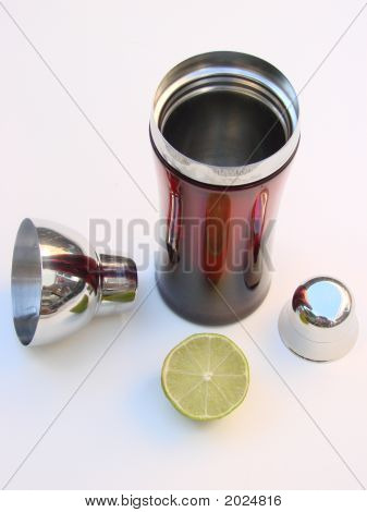Drink Shaker And Lime