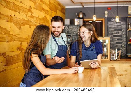Team Communication Barista In A Coffee House