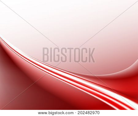 abstract light background, in red and white bent arc tones