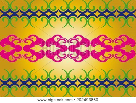 Vector Image Of Geometric Pattern On A Gold Background