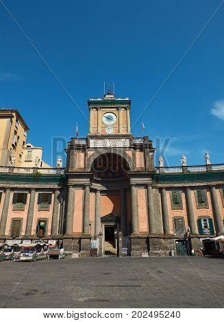 Foro Carolino Of Naples. Campania, Italy.