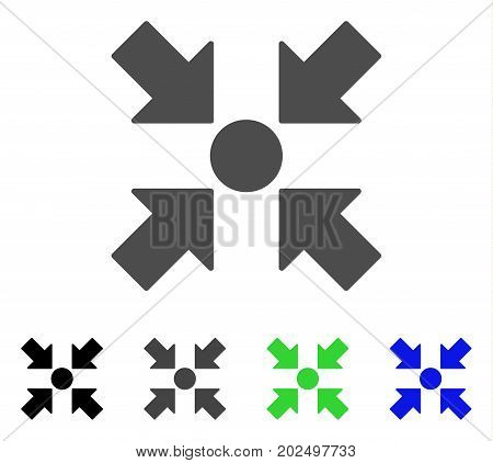Meeting Point vector icon. Style is a flat graphic symbol in black, gray, blue, green color versions. Designed for web and mobile apps.