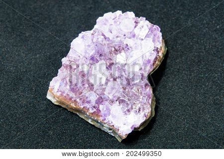 Amethyst. Crystals natural amethyst. Semi-precious stone. Minerals is the underground wealth.