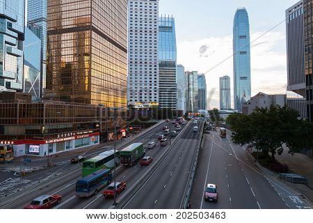 Street View Of Hong Kong City