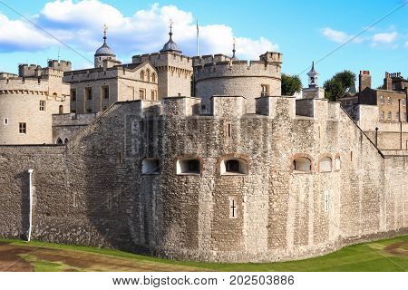 Tower of London - Part of the Historic Royal Palaces, housing the Crown Jewels. London, United Kingdom.