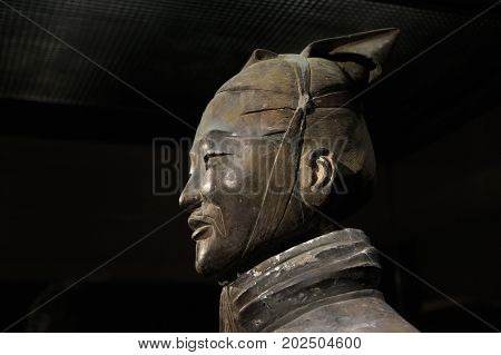 Xian, China - November 21, 2017: The World Famous Terracotta Army Part Of The Mausoleum Of The First