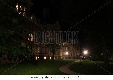 Night at a historic mental hospital in Traverse City, MI