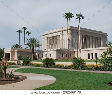 The Latter-Day Saint Temple in Mesa, Arizona