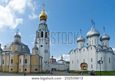 Kremlin Squarein Vologda v, Russia,   russian travel