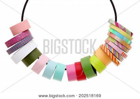 Masking tape isolated on a white background