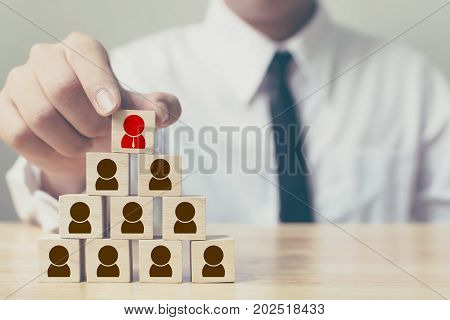 human resources management and recruitment business concept