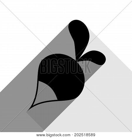 Radish simple sign. Vector. Black icon with two flat gray shadows on white background.