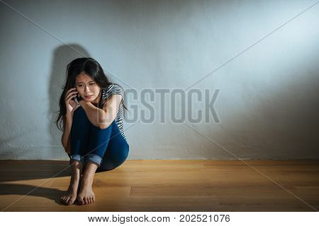 Battered Abused Women Concept Of Young Girl