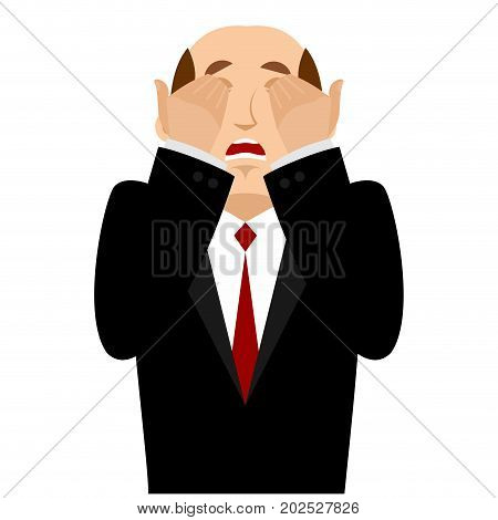Omg Boss Facepalm. Oh My God Businessman Is Frustrated. Disappointment Manager. Illustration Of Frus