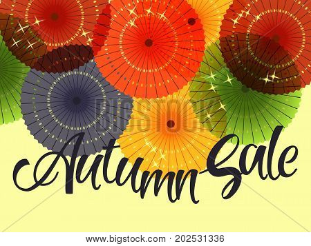 Sale Banner With Paper