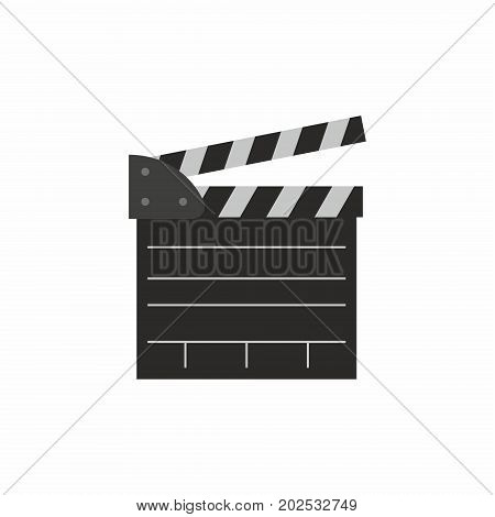 clapper board on white background. Vector illustration