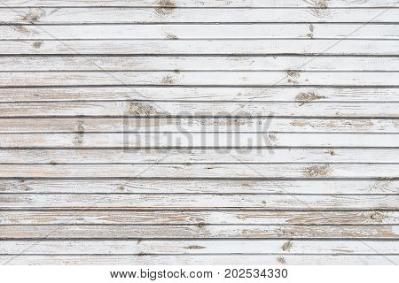 White horizontal painted wooden battens as background