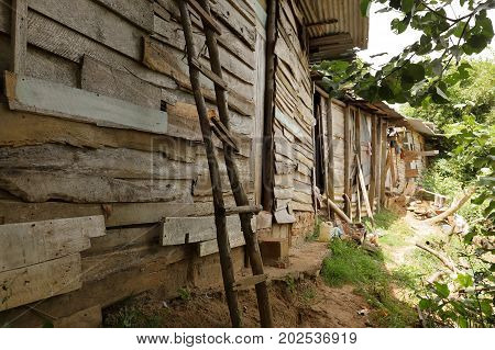 The Huts and poverty in Sri Lanka