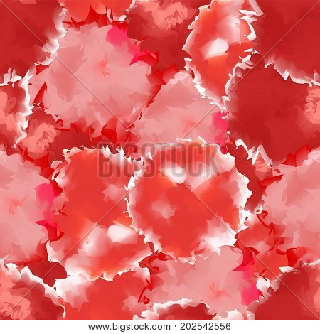 Red Seamless Watercolor Texture Background. Sightly Abstract Red Seamless Watercolor Texture Pattern