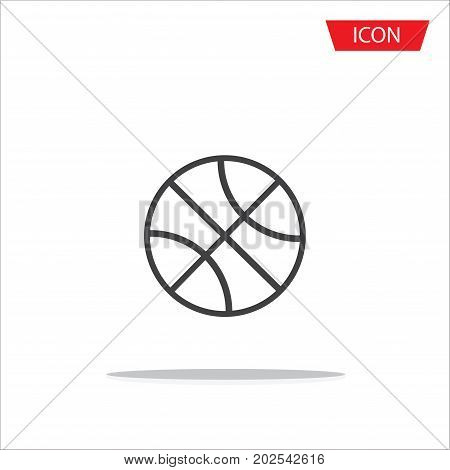 Basketball icon vector ,outline basketball icon vector on white background.