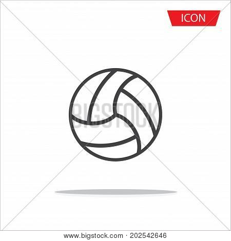 Volleyball Icon vector, outline volleyball Icon vector on white background.