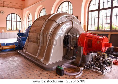 Power Plant Turbines For Producing Electricity Of Rodi Fiesso