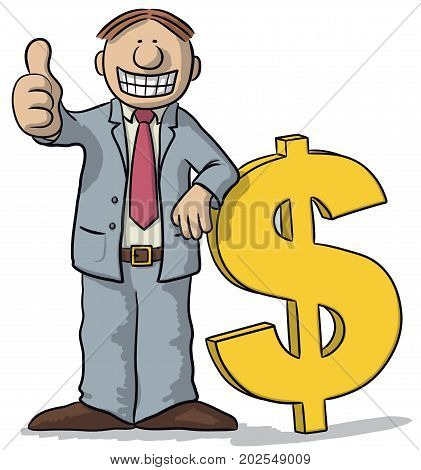 Man With Dollar Sign