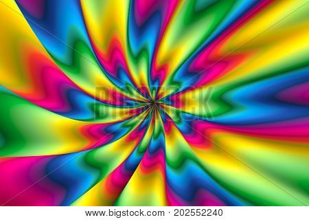 colorful abstract background with psychedelia 3d illustration