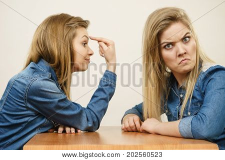 Two Women Having Argue Fight