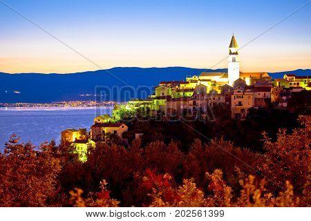 Town Of Vrbnik On Krk Island Sunrise View